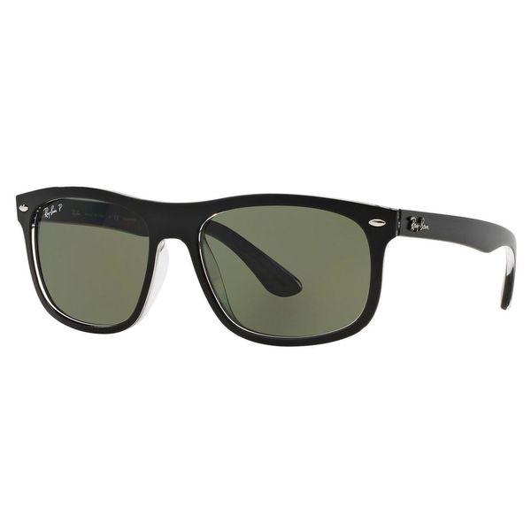 d83b64853e Ray-Ban Men  x27 s RB4226 Black Plastic Rectangle Polarized Sunglasses