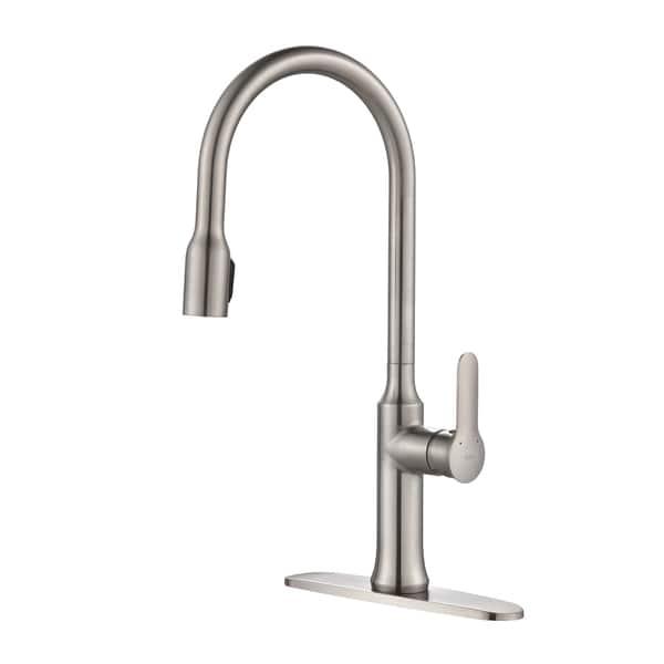 Shop KRAUS Nola Single-Handle Kitchen Faucet with Concealed ...