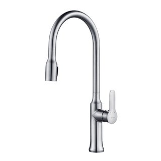 KRAUS Nola Single-Handle Kitchen Faucet with Concealed Pull Down Dual-Function Sprayer in Stainless Steel