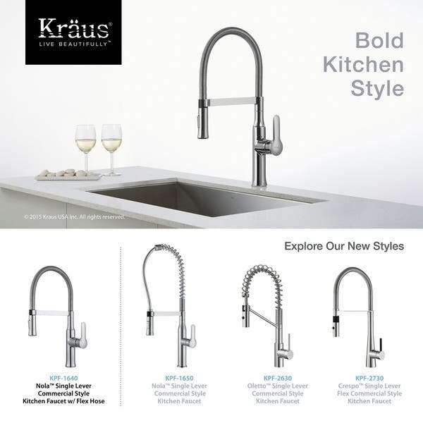 Kraus KPF-1640 Nola Flex Commercial Style 1-Handle 2-Function Sprayhead  Pull Down Kitchen Faucet | Overstock.com Shopping - The Best Deals on  Kitchen ...