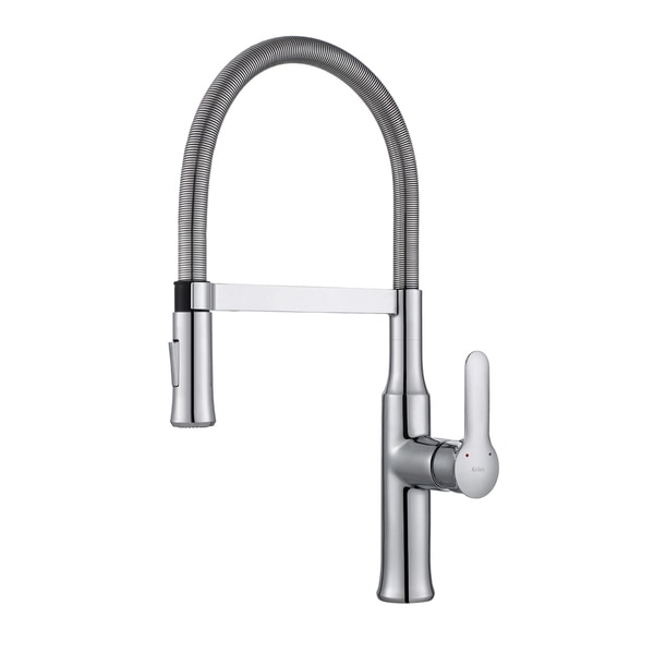 Kraus Nola Flex Single Handle Commercial Style Kitchen Faucet With Dual Function Sprayer Free