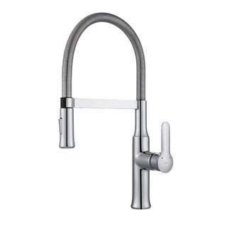 KRAUS Nola Flex Single Handle Commercial Style Kitchen Faucet With  Dual Function Sprayer