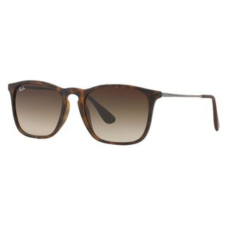 Ray-Ban RB4187 Chris Unisex Tortoise Frame Brown Gradient Lens Sunglasses