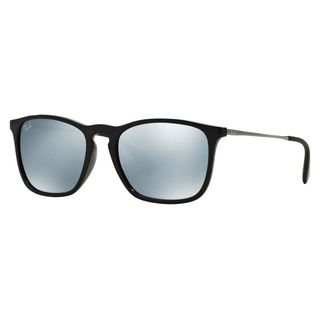 Ray-Ban Men's RB4187 Black Plastic Square Sunglasses