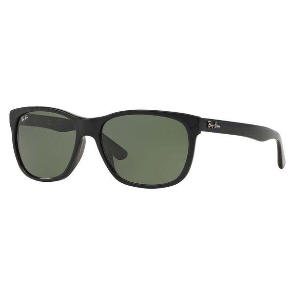 49a512c675 Shop Ray-Ban Men s RB4181F Black Plastic Square Sunglasses - Free ...
