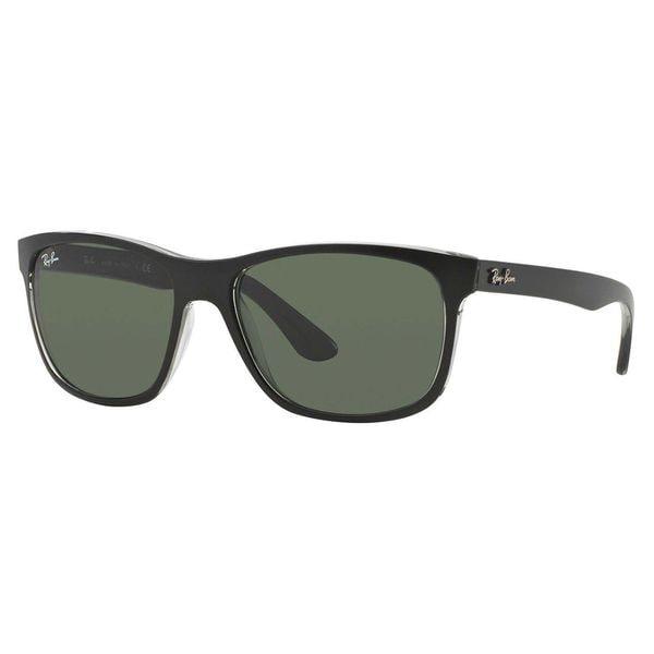 b40132b449 Shop Ray-Ban Men s RB4181 Black Plastic Square Sunglasses - Free ...
