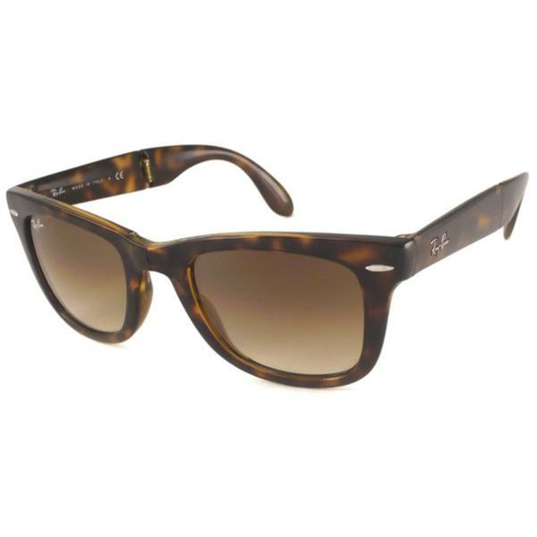 48b9e4f5831 Ray-Ban Folding Wayfarer RB4105 Men Tortoise Brown Gradient Sunglasses