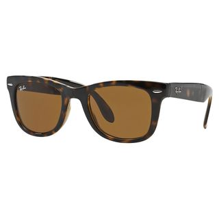 Ray-Ban Wayfarer Folding RB4105 Tortoise Frame Brown Gradient Lens Sunglasses