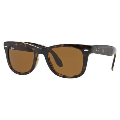Ray-Ban Wayfarer Folding RB4105 Tortoise Frame Brown Gradient Lens Sunglasses