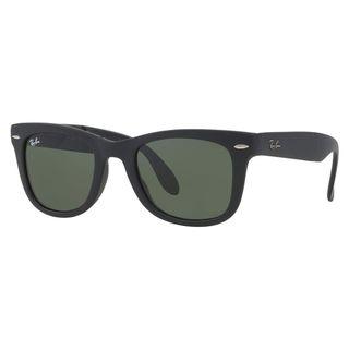 Ray-Ban Men's RB4105 Black Plastic Square Sunglasses