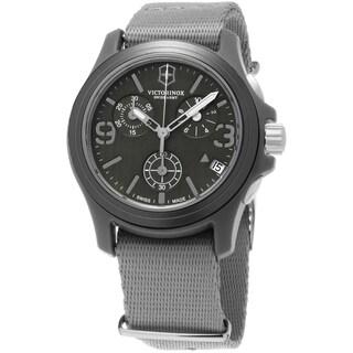 Swiss Army Men's 241532 'OriginalChrono' Grey Dial Grey Nylon Fabric Strap Swiss Quartz Watch