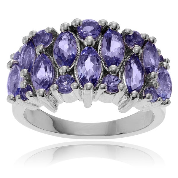 Journee Collection Sterling Silver Tanzanite Ring