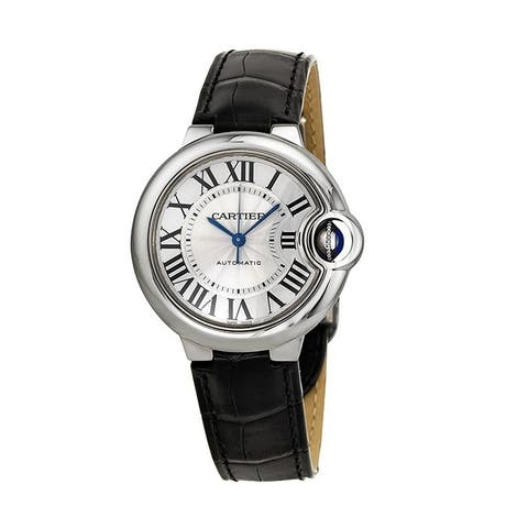 Cartier Women's W6920085 'Ballon Bleu' Automatic Black Leather Watch