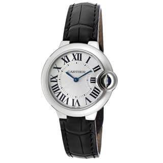 Cartier Women's W6920085 'Ballon Bleu' Automatic Black Leather Watch