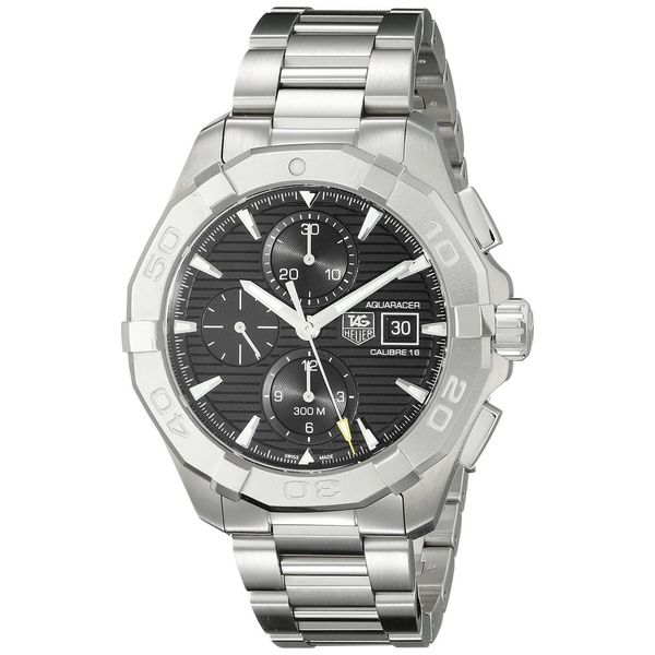 Tag Heuer Men's CAY2110.BA0925 'Aquaracer' Chronograph Automatic Stainless Steel Watch. Opens flyout.