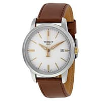 Tissot Men's T0334102601100 'T-Classic Dream' Brown Leather Watch
