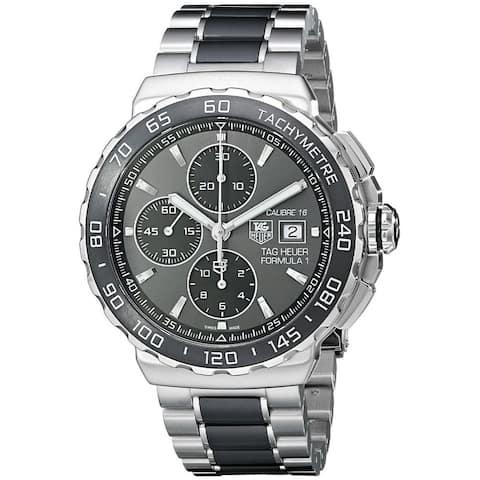 Tag Heuer Men's CAU2010.BA0873 'Formula One' Chronograph Automatic Two-Tone Ceramic Watch