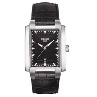 Tissot Men's 'T-Trend TXL ' Black Leather Watch