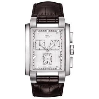 Tissot Men's T0617171603100 'T-Trend TXL ' Chronograph Brown Leather Watch