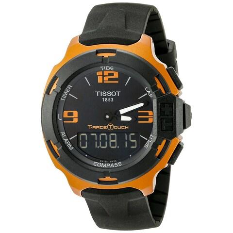 Tissot Men's T0814209705703 'T-Race' Black Rubber Watch
