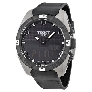 Tissot Men's T0914204605100 'T-Touch Expert' Black Leather Watch