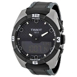 Tissot Men's T0914204605101 'T-Touch Expert' Black Leather Watch
