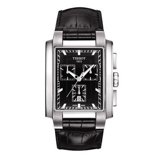 Tissot Men's 'T-Trend TXL ' Chronograph Black Leather Watch