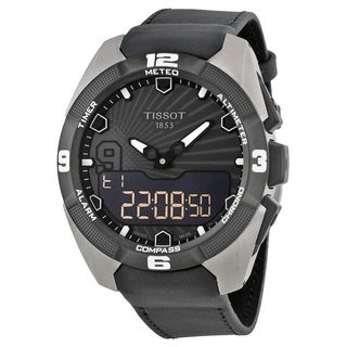 Tissot Men's T0914204606100 'T-Touch Expert' Black Leather Watch