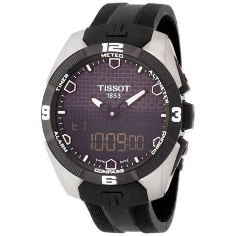 Tissot Men's T0914204705100 'T-Touch Expert' Black Rubber Watch