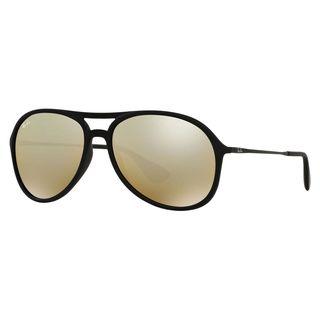 Ray-Ban Alex Highstreet RB 4201 Unisex Black Frame Gold MirrorLens Sunglasses