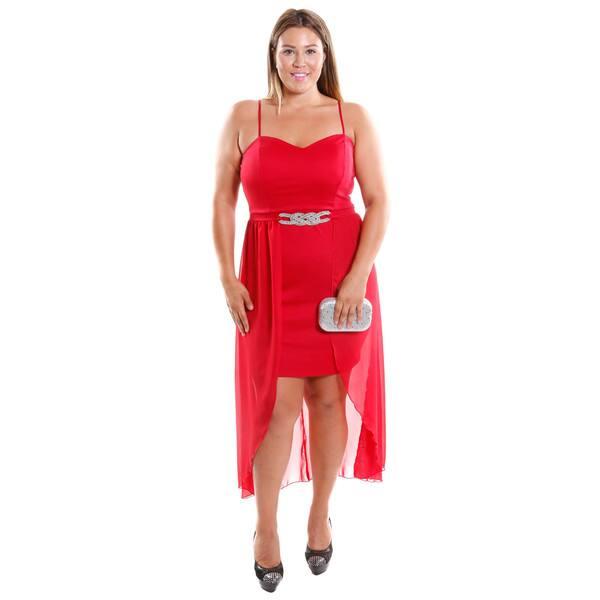 Shop Hadari Women\'s Plus size Spaghetti Strap Dress With ...