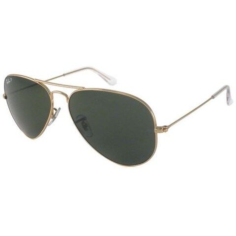 Ray-Ban Men's RB3025 Gold Metal Pilot Polarized Sunglasses