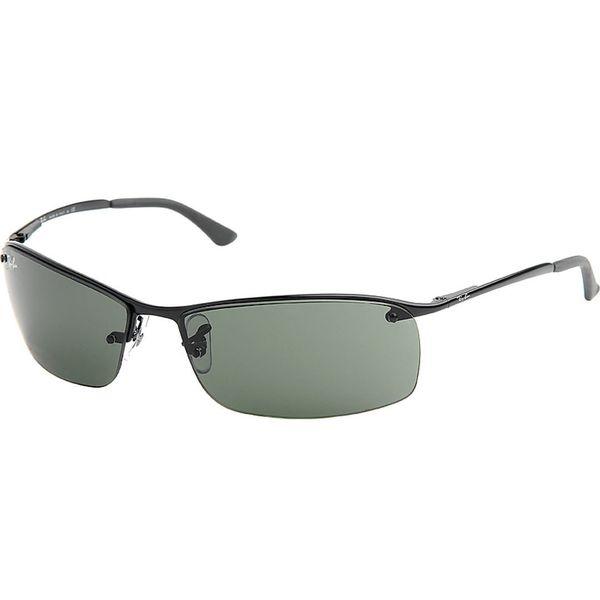 93124de3a5c Shop Ray-Ban Men s RB3183 Black Metal Rectangle Sunglasses - Free ...