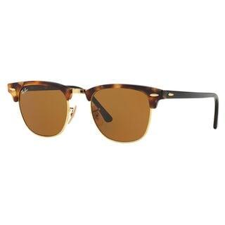 Ray-Ban Men's RB3016 Brown Plastic Square Sunglasses