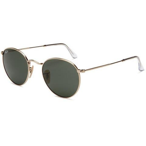 1305327d4 Ray-Ban Round Metal RB3447 Unisex Gold Frame Green Classic Lens Sunglasses