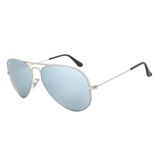 Ray-Ban Men's RB3025 Silver Metal Pilot Polarized Sunglasses
