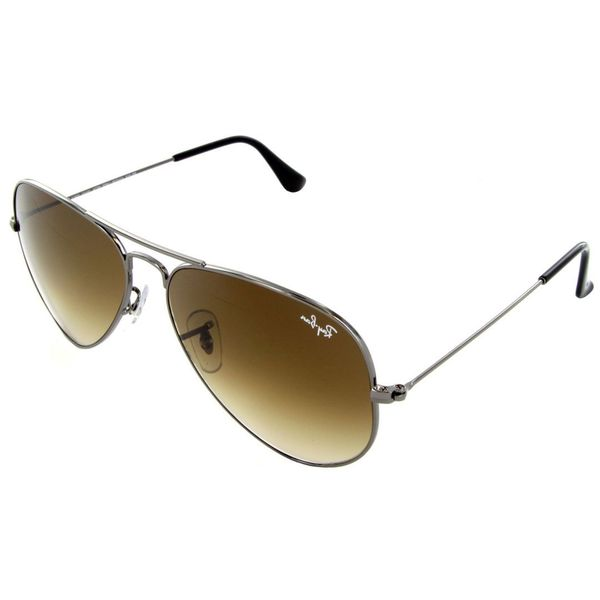 Sunglasses Frame Size 58 : Ray-Ban RB3025 004/51 Size 58 Brown Gradient Lens Gunmetal ...