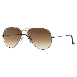 Ray-Ban RB 3025 004/51 Gunmetal Aviator Metal Sunglasses with Brown Gradients Lens 55mm