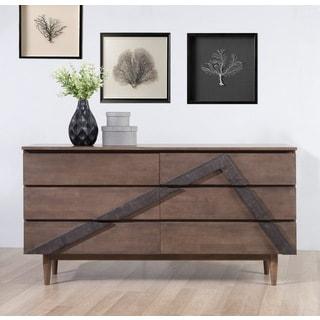 Vertex 6-drawer Mid-century Style Dresser