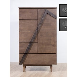 Vertex 1-door / 5-drawer Armoire