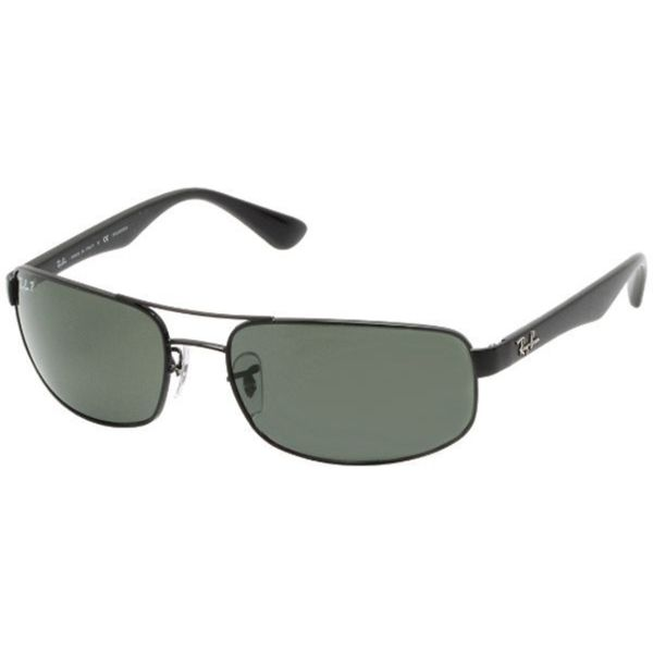 37485d43f4 Shop Ray-Ban Men s RB3445 Black Metal Rectangle Polarized Sunglasses - Free  Shipping Today - Overstock.com - 10482769