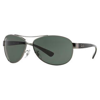 Ray Ban Aviator RB-3386 004/71 67-13 Unisex Black Frame Green Lens Sunglasses