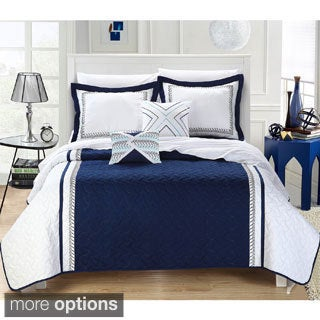 Chic Home Paulo Embroidered 4-piece Quilt Set