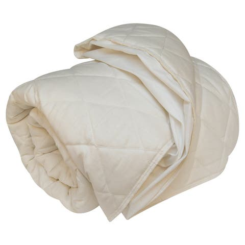 Organic Wool-Filled Fitted Mattress Pad