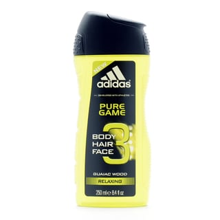 Adidas Pure Game Guaiac Wood 8.4-ounce Relaxing 3 -in-1 Hair, Body, & Face Shower Gel