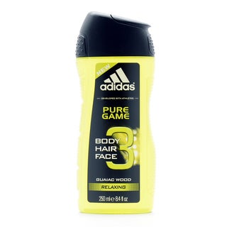 Adidas Pure Game Guaiac Wood 8.4-ounce Relaxing 3-in-1 Hair, Body & Face Shower Gel