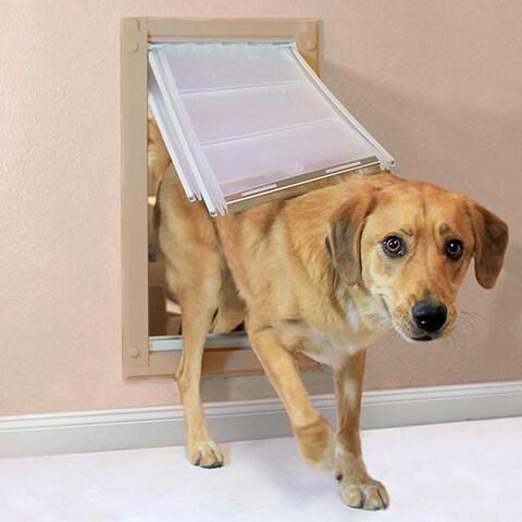 Endura Flap Aluminum/Polyolefin Double-flap Pet Door for Walls