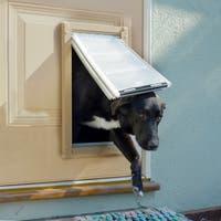 Endura Flap Aluminum/Polyolefin Double-flap Pet Door for Doors