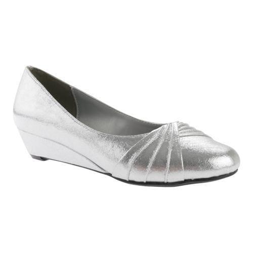 Women's Dyeables Rue Wedge Silver Shimmer (US Women's 12 ...