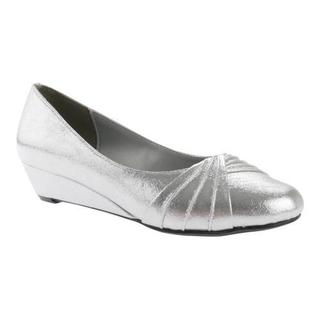 Women's Dyeables Rue Wedge Silver Shimmer